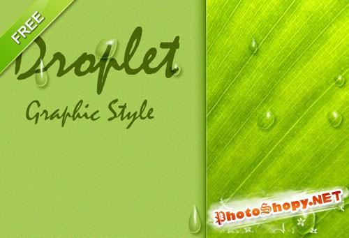 Designtnt - Droplet Photoshop Graphic Style