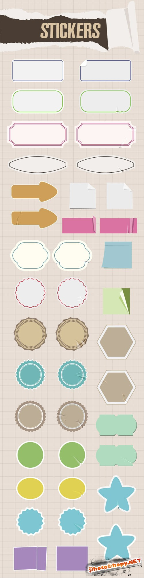 Designtnt - Stickers Vector Set 1