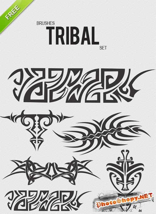 Designtnt - Brushes Tribal Set