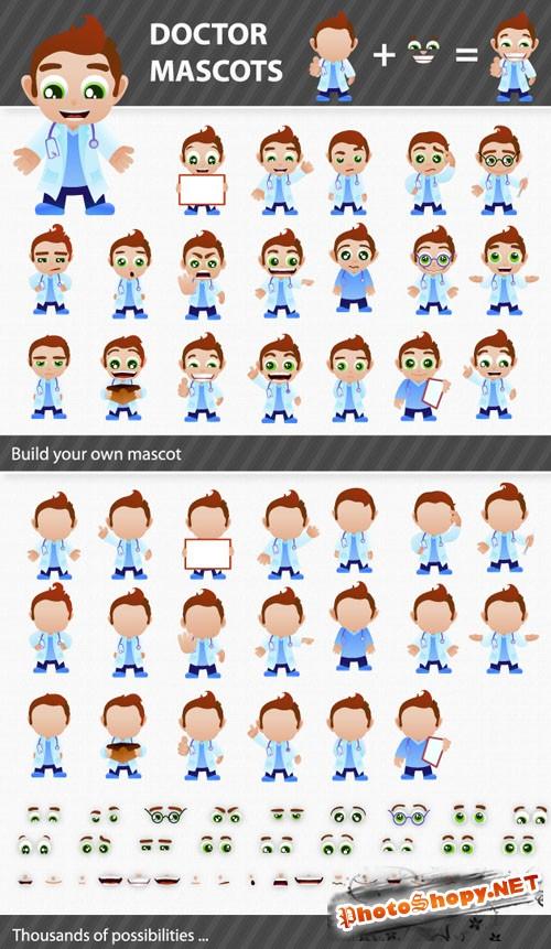 Designtnt - Doctor Mascots