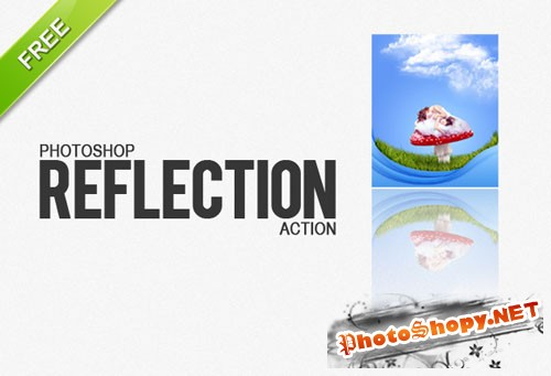 Designtnt - Photoshop Reflection Action