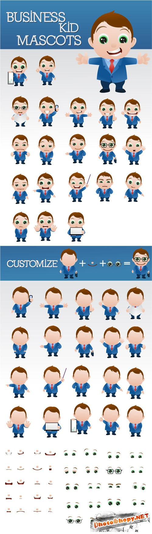 Designtnt - Business Man Mascots