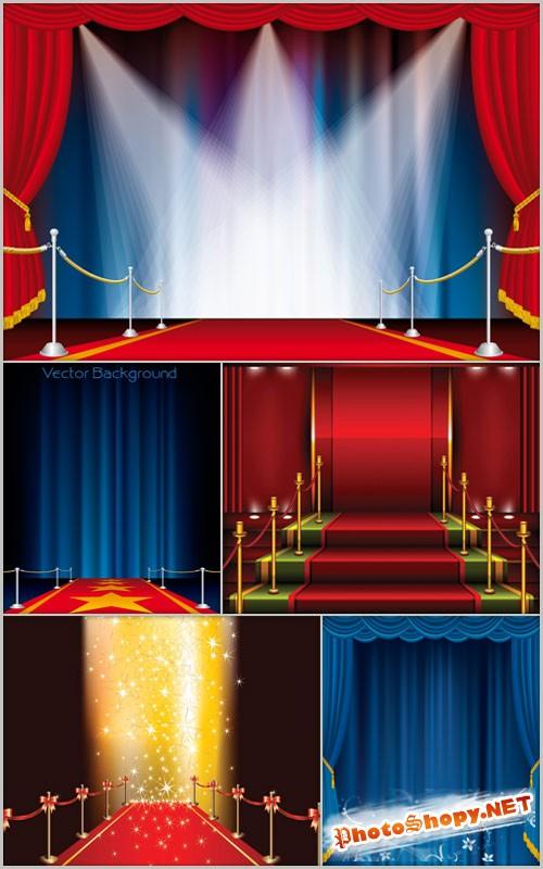 Векторные фоны - Сцена и подиум