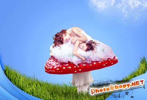 Designtnt - Create Cute Fantasy Composition Photoshop
