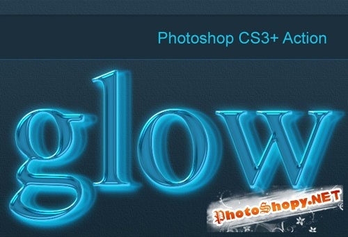 Designtnt - Photoshop Neon Glow Action