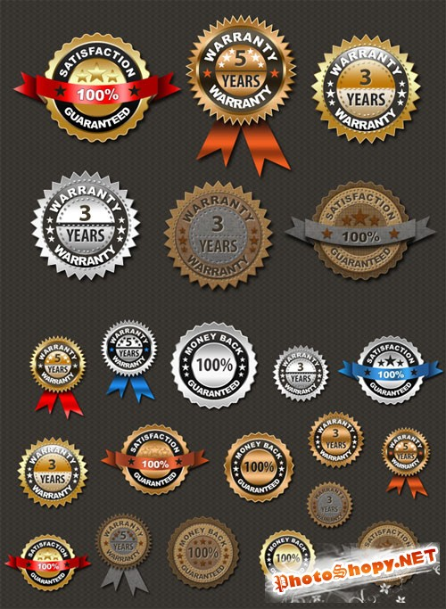 Designtnt - Premium Gold, Platinum and Retro Seals