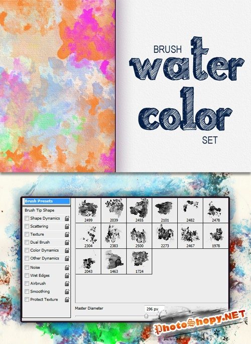 Designtnt - Watercolor PS Brushes