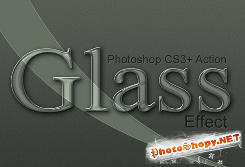 Designtnt - Elegant Glass Effect PS Action