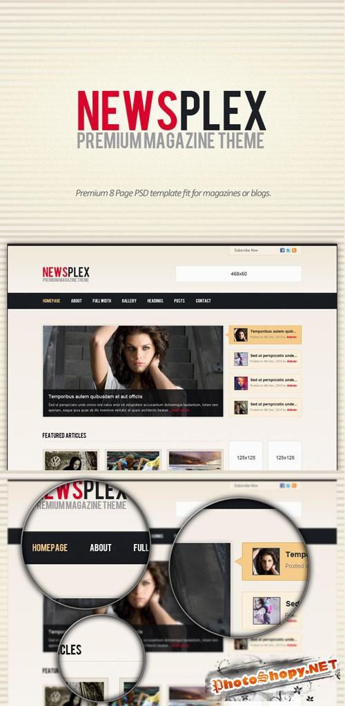 Designtnt - Premium Magazine PSD Template