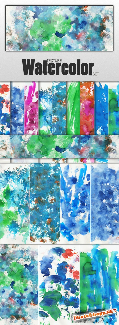 Designtnt - Watercolor Textures