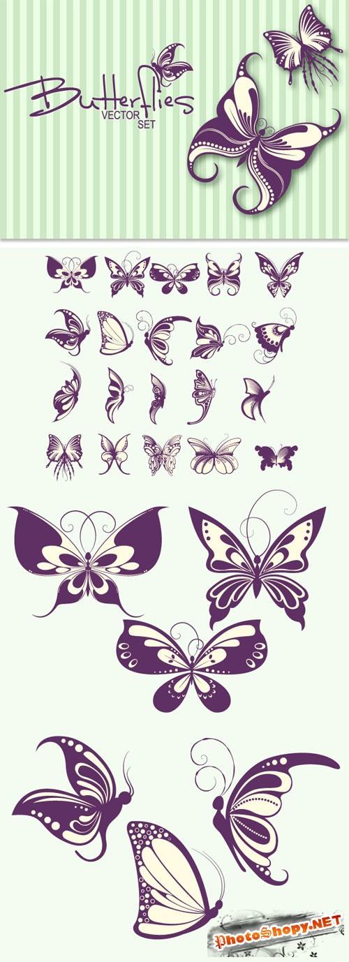 Designtnt - Stylish Butterflies Set