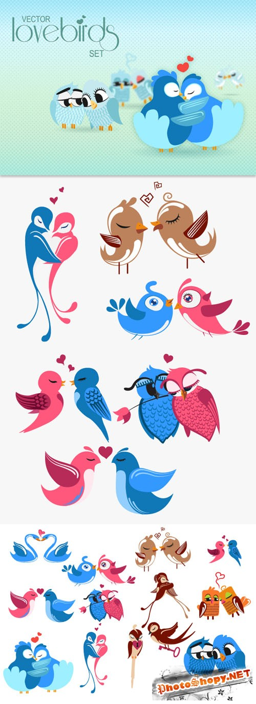 Designtnt - Birds Vector Set 1