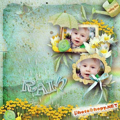 Летний скрап-набор - Дождливый денёк