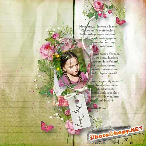 Винтажный скрап-набор - Дневник Шер