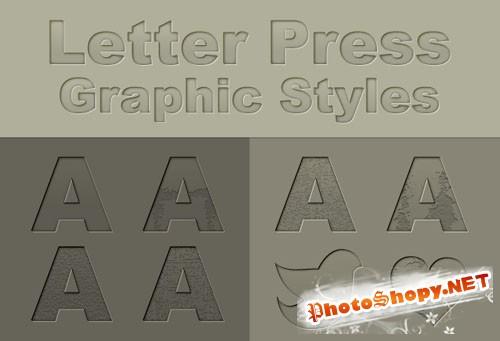 Designtnt - Letter Press Ai Graphic Style