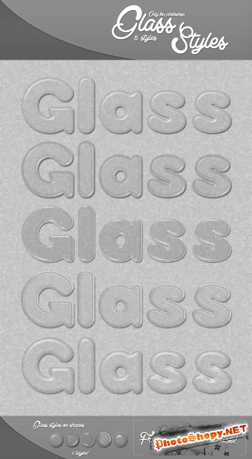 Glass Photoshop Styles