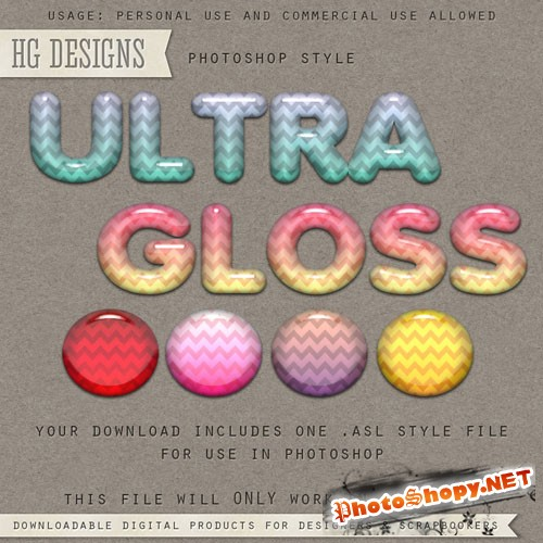 Ultra Gloss Photoshop Styles
