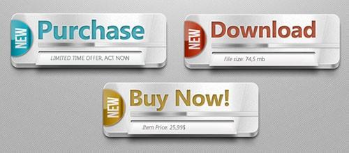 Multipurpose Web Buttons PSD Template