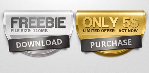 Premium Badges PSD Template