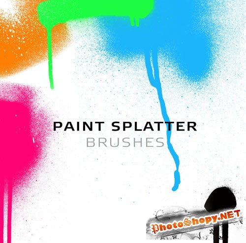 Paint Splatter Photoshop Brushes
