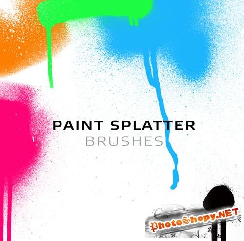 Paint Splatter Photoshop Brushes