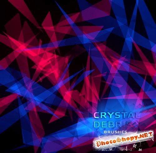 Crystal Debris Photoshop Brushes