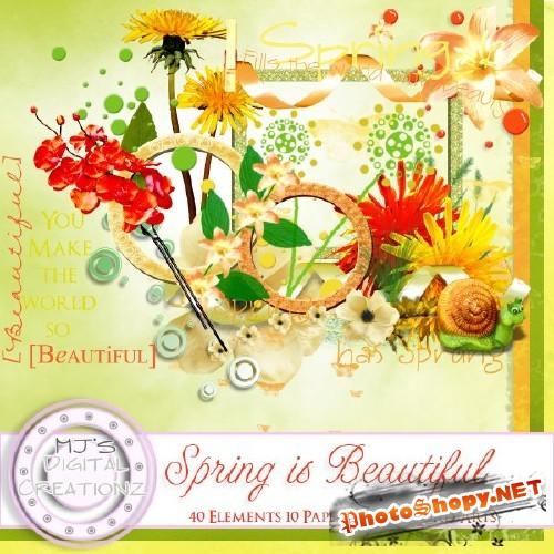 Яркий весенний скрап-набор - Прекрасная весна