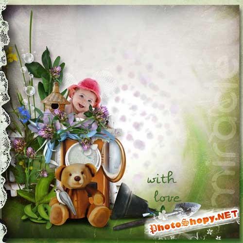 Детский скрап-набор - Зелёное настроение