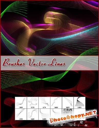 Кисти для photoshop - Фантасмагорические векторные линии