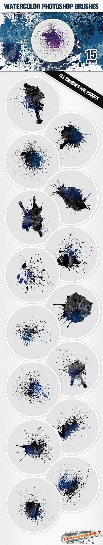 Designtnt - Watercolor Brushes Set 2