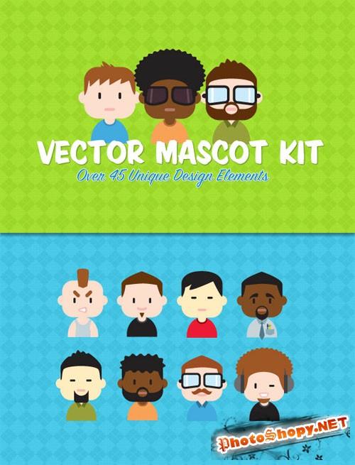 WeGraphics - Vector Mascot Creation Kit