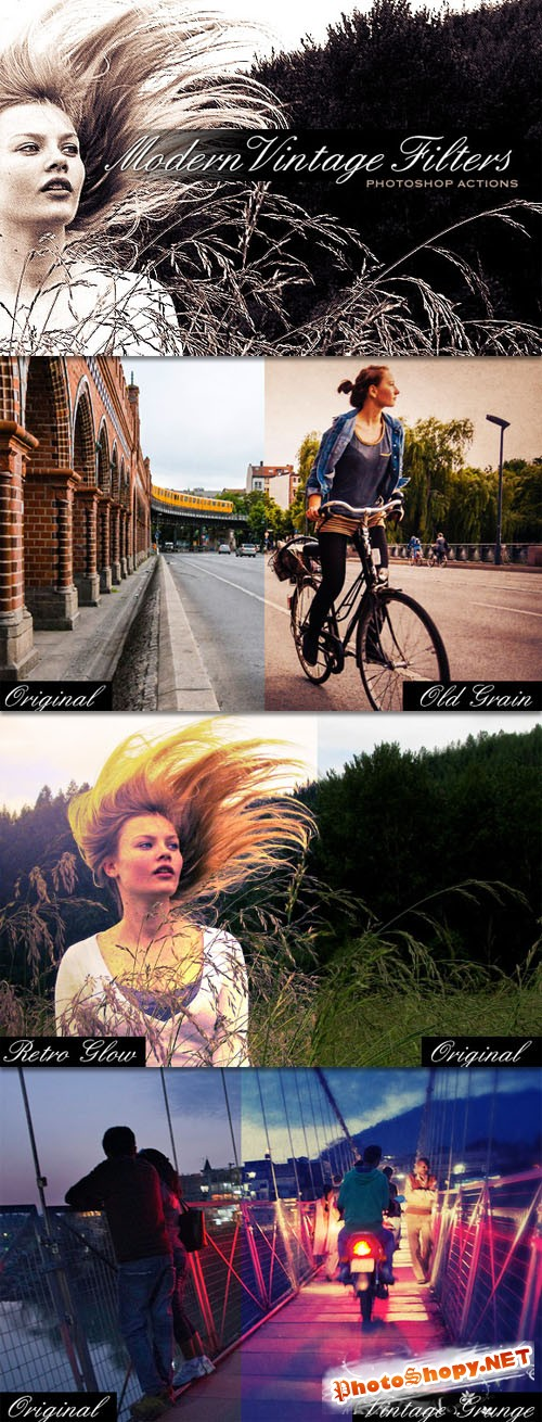 WeGraphics - Vintage Modern Filters – Photoshop Action Set