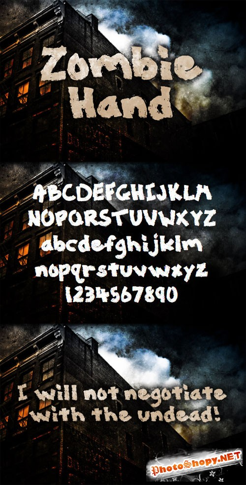 WeGraphics - Zombie Hand – Painted Font Face
