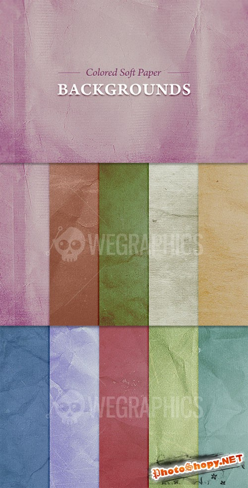 WeGraphics - Colored Soft Paper Backgrounds