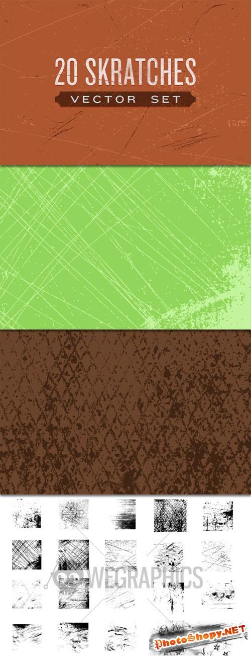 WeGraphics - 20 Scratches Vector Set
