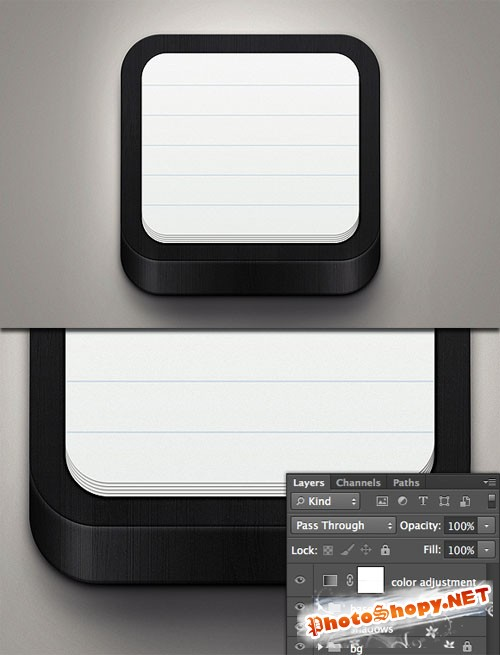 WeGraphics - Black Notebook Icon Template