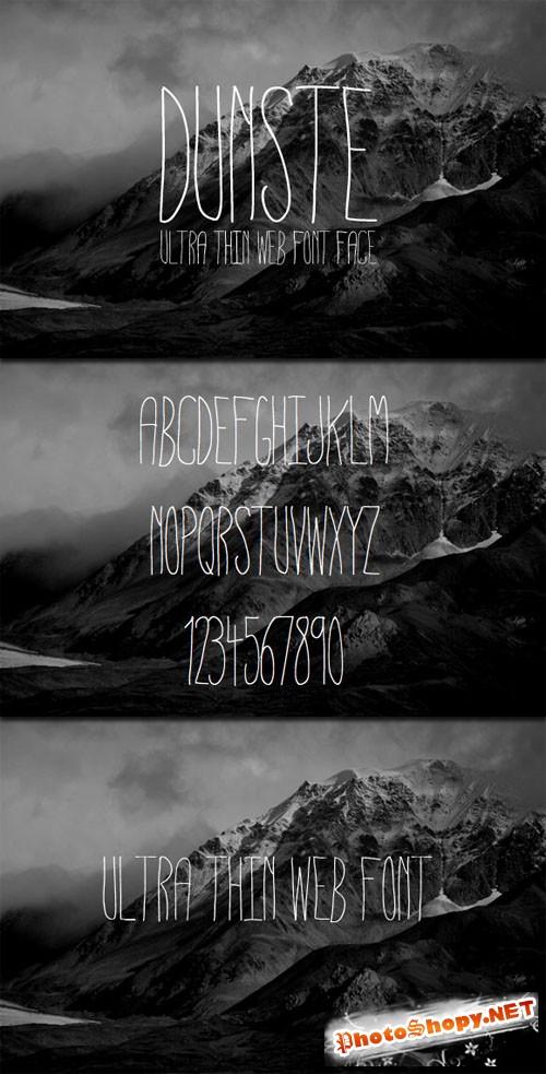WeGraphics - Dunste An Ultra Thin Web Font