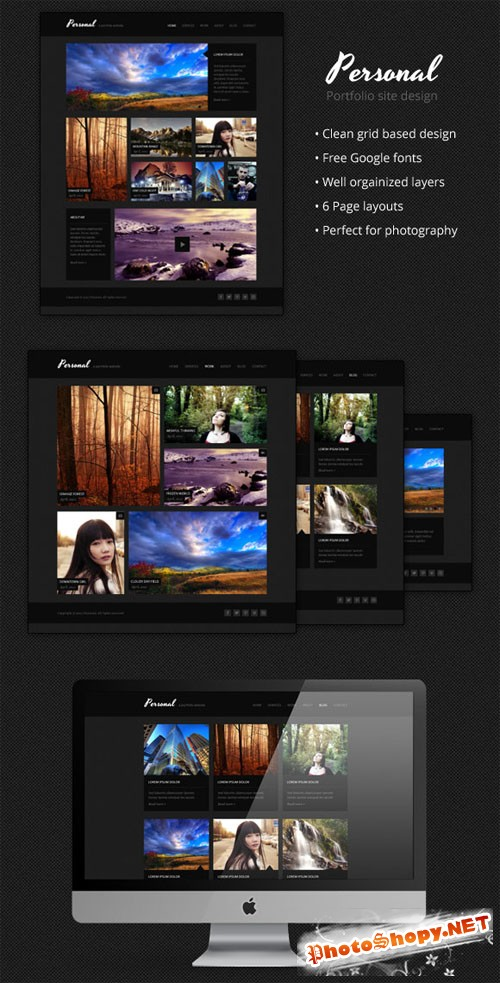 WeGraphics - Personal - A Multi-Page Portfolio Design PSD