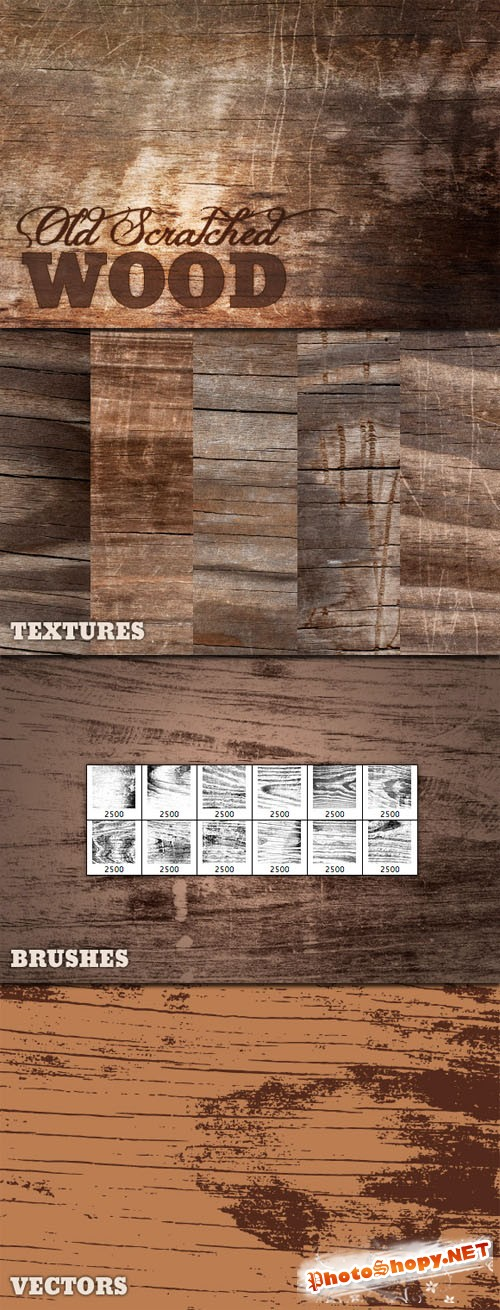 WeGraphics - Old Scratched Wood Multi-Pack