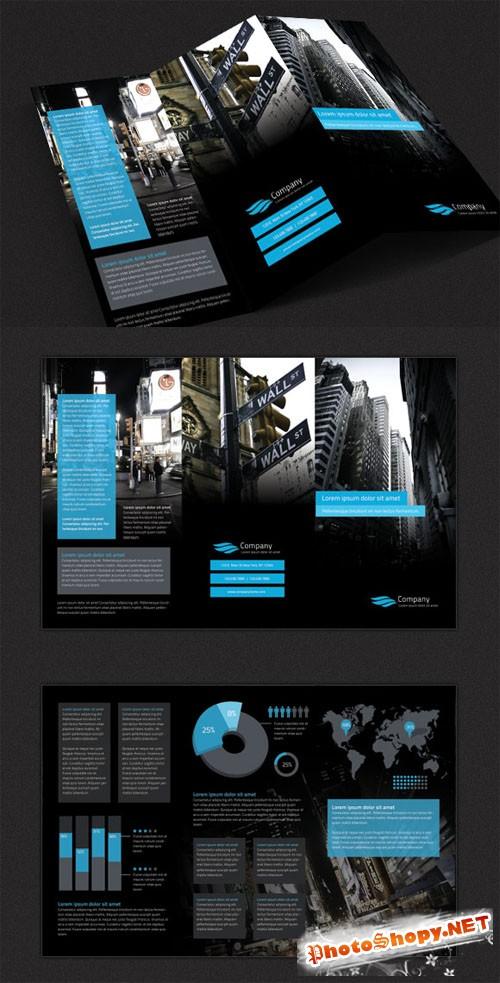 WeGraphics - Modern Tri-Fold Brochure Design Template