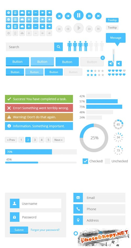 WeGraphics - Flat Style Web UI Kit