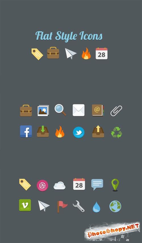 WeGraphics - Flat Style Icon Pack