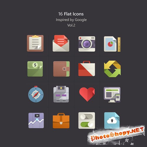Pixeden - Flat Design Icons Set Vol2