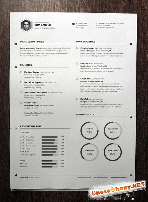 Pixeden - Simple Resume Template vol3