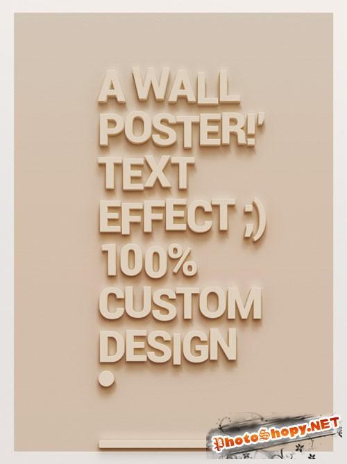 Pixeden - Psd Wall Poster Text Effect