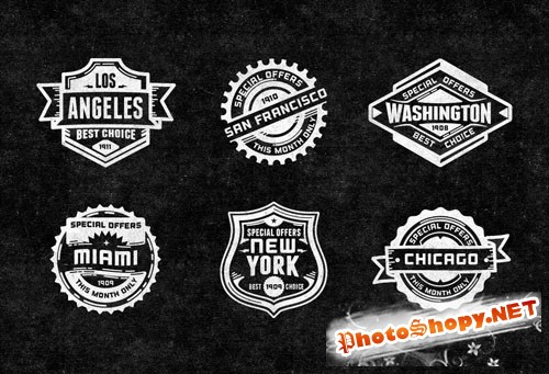 Pixeden - Promo Vector Retro Badges Vol2