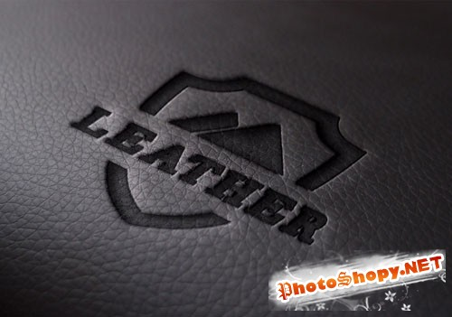 Pixeden - Leather Logo Mock-Up Template