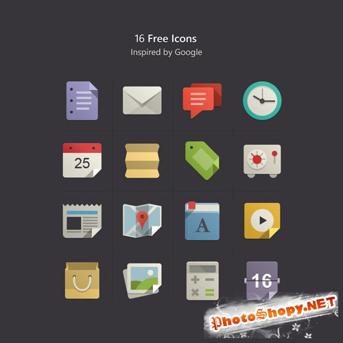 Pixeden - Flat Design Icons Set Vol1