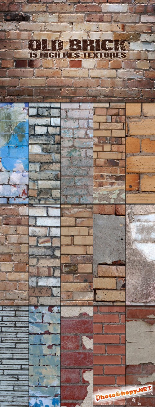 WeGraphics - Old Brick Walls - Texture Collection