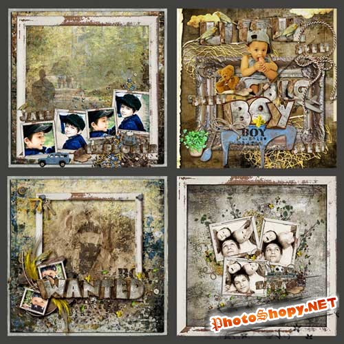 Детский скрап-комплект для мальчиков - Отступление мальчишек